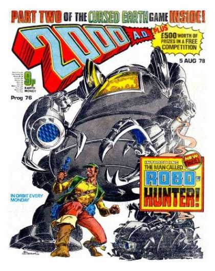 Judge Dredd - 2000 AD 76 - Robo-hunter - Part Two - The Cursed Earth Game - Prog 76 - In Orbit Every Monday