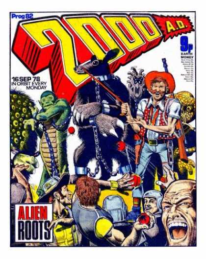 Judge Dredd - 2000 AD 82 - Animal - Cowboys - Costume - Number - Chain