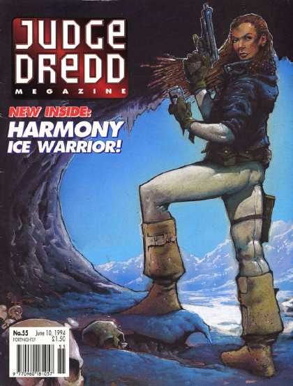 Judge Dredd Megazine II 55 - Harmony - Ice Warrior - Gun - Woman - Snow