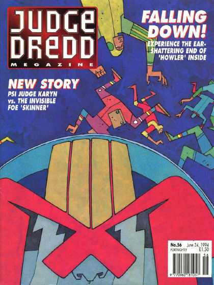 Judge Dredd Megazine II 56 - Falling Down - June 24 1994 - Judge Karyn - The Invisible Foe Skinner - 36