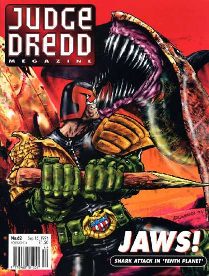 Judge Dredd Megazine II 62 - Jaws - Shark Attack - Tenth Planet - Monster - Man