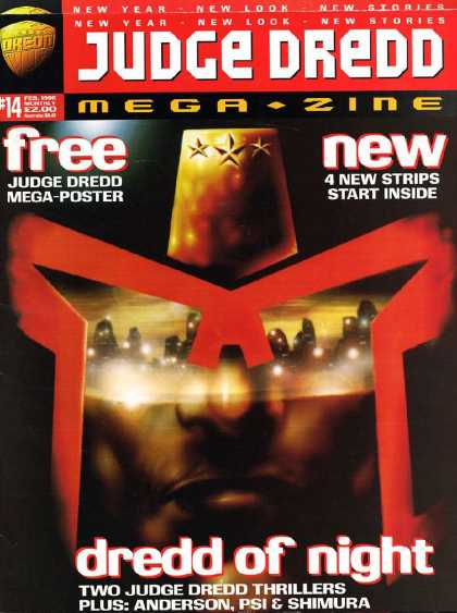 Judge Dredd Megazine III 14 - Dredd Of Night - Stars - Judge - Black Man - Face