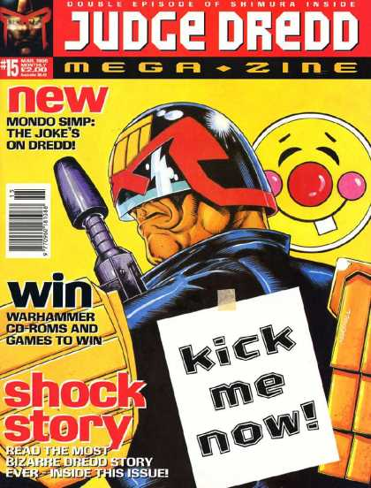 Judge Dredd Megazine III 15 - Happy Face - Kick Me Now - Mondo Simp - Mega Zine - Humor