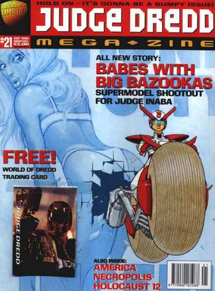 Judge Dredd Megazine III 21 - Babes With Big Bazookas - Motorcycle - Bra - Woman