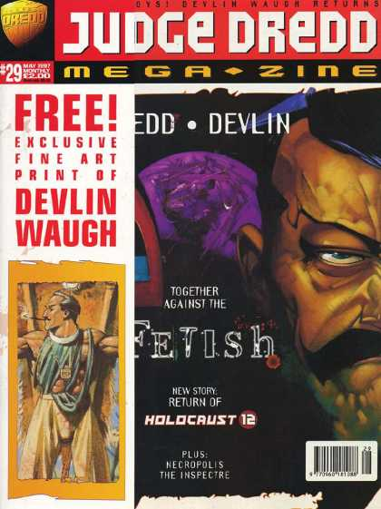 Judge Dredd Megazine III 29 - Moustache - Devlin - Waugh - Collection - Smoking