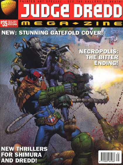 Judge Dredd Megazine III 35 - Robot - Firearms - Fighting - Air Battle - Struggle