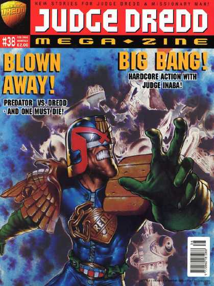 Judge Dredd Megazine III 38 - Judge - Dredd - Green - Glove - Blown