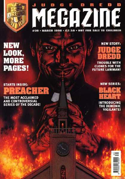 Judge Dredd Megazine III 39 - Clones - Preacher - Church - Black Heart - Demonic Vigilante