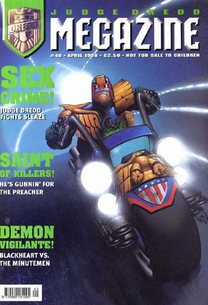 Judge Dredd Megazine III 40 - Smoke - Light - Car - Motor - Gun