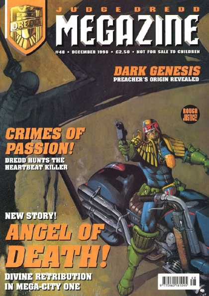 Judge Dredd Megazine III 48 - Dark Genesis - Crimes Of Passion - New Story Angel Of Death - Divine Retribution - Black Car