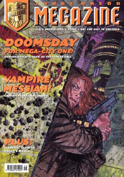 Judge Dredd Megazine III 56 - Vampire Messaih - Doomsday - For Mega-city One - Demarco Fights Back As The Judges Fall - Cassidy Plays God-inside