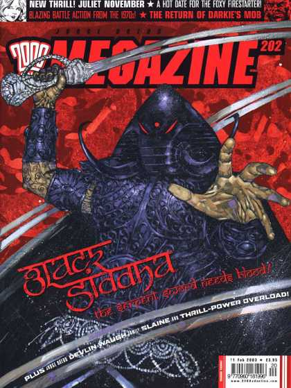 Judge Dredd Megazine IV 202 - Juliet November - Foxy Firestarting - Darkies Mob - Black Siddha - Slaine