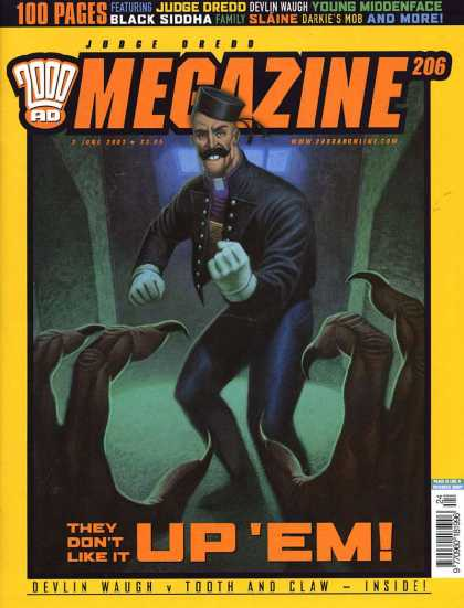 Judge Dredd Megazine IV 206 - 100 Pages - Judge Dredo - Devlin Waugh - Young Middenface - Black Siddha