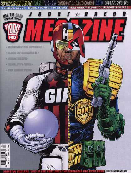 Judge Dredd Megazine IV 216 - Helmet - Gun - Armor - Weapon - Badge