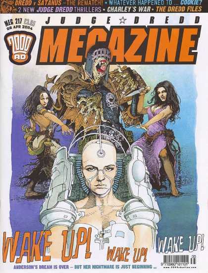 Judge Dredd Megazine IV 217 - Wake Up - Charleys War - Dreed V Statunus - Anderson - Dream Is Over