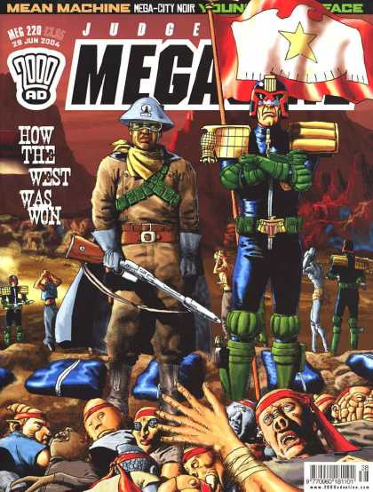 Judge Dredd Megazine IV 220 - Mean Machine - Mega-city Noir - West - Gun - Pig Nose