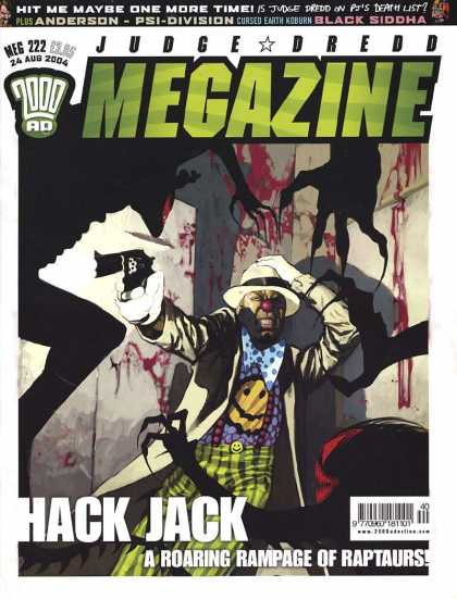 Judge Dredd Megazine IV 222 - Blac Siddha - Blood - Gun - Smiley Face Shirt - Weapon