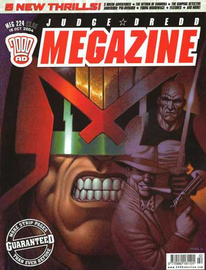 Judge Dredd Megazine IV 224 - 5 New Thrills - Guaranteed - More Strip Pages - Then Ever Before - Meg 224