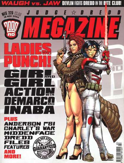 Judge Dredd Megazine IV 225 - Waugh Vs Jaw - 2000 Ad - Anderson Psi - Charleys War - Missenface Dredd