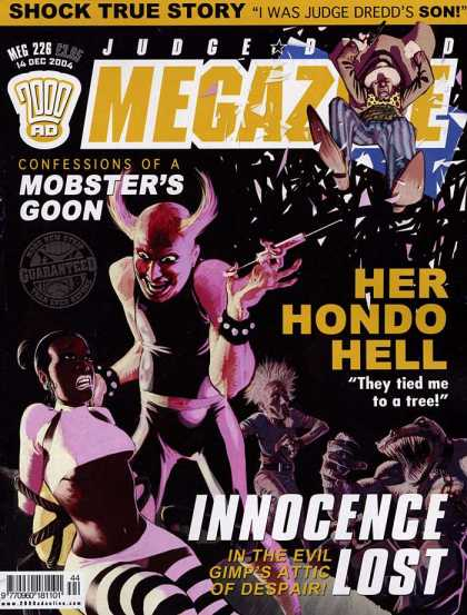 Judge Dredd Megazine IV 226 - Needle - Black Girl - Dinosaur - 2000 Ad - Mini Skirts