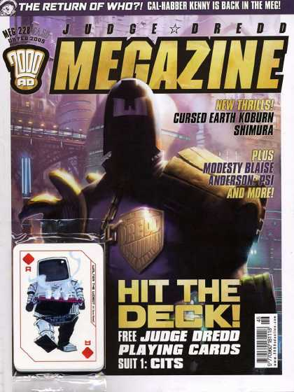 Judge Dredd Megazine IV 228 - Life After 2000 - Judge Dred The Ace Of Doom - The Cursed Planet - Trading Cards - Who In The World Is Cal-harbor Kenny