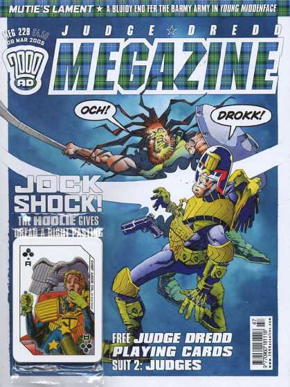 Judge Dredd Megazine IV 229 - Muties Lament - Jock Shock - Sword - Gun - Drokk