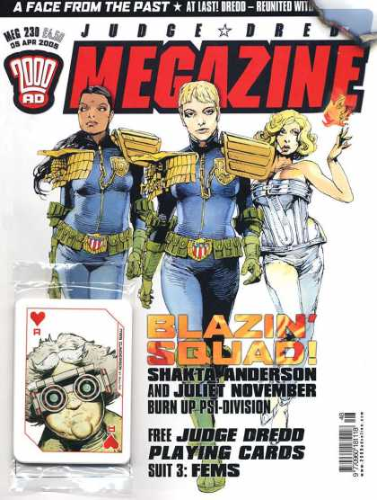 Judge Dredd Megazine IV 230 - Judgfe Dredd - Blazin Squad - 2000 Ad - A Face From The Past - Megazine