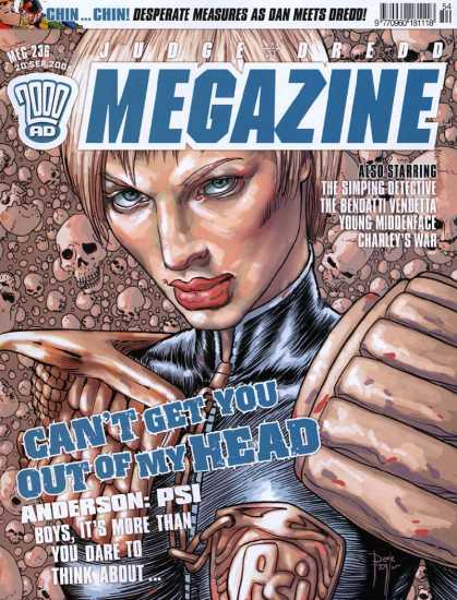 Judge Dredd Megazine IV 236 - Hin Chin - Desparate Measutes As Dan Meets Dredo - The Simping Detectice - The Bendatti Vendetta - Young Middenface