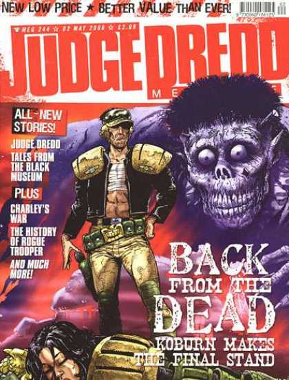 Judge Dredd Megazine IV 244 - Back From The Dead - Koburn Makes The Final Stand - Judge Dredd - Military - Charleys War