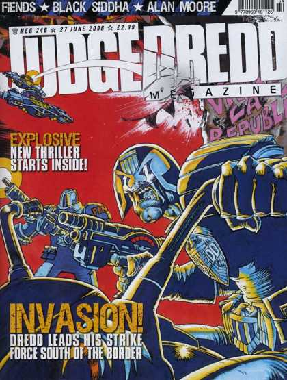 Judge Dredd Megazine IV 246 - Fiends - Black Siddha - Alan Moore - Explosive - Invasion