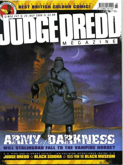 Judge Dredd Megazine IV 247 - Best British Colour Comic - Army Of Darkness - Black Siddha - Tales From The Black Museum - Will Stalingrad Fall To The Vampire Horde