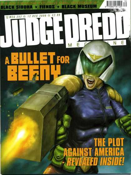 Judge Dredd Megazine IV 252 - A Bullet For The Enemy - Plot Against America - Female Judge - Gun - Black Siddha