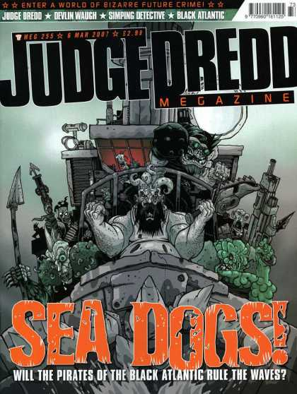 Judge Dredd Megazine IV 255 - Pirates - Devlin Waugh - Black Atlantic - Simping Detective - Waves