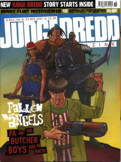 Judge Dredd Megazine IV 258 - Story Starts Inside - Henry Flint Interviewed - Fallen Angels - Pa An His Butcher Boys Are Back - Guns
