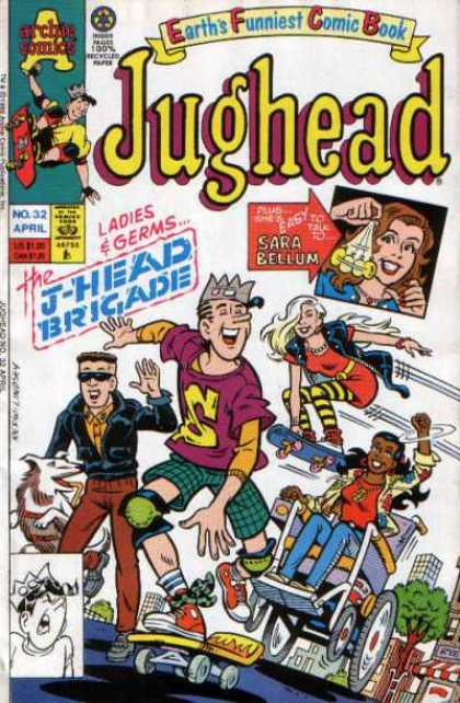 Jughead 2 32 - Crown - Dog - Skateboard - Wheelchair - Sunglasses