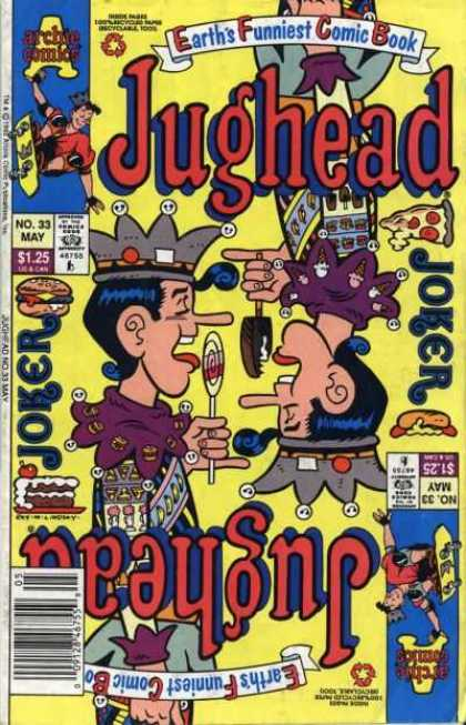 Jughead 2 33 - Earths Funniest Comic Book - No 33 May - Joker - Mirror Image - Lollipop