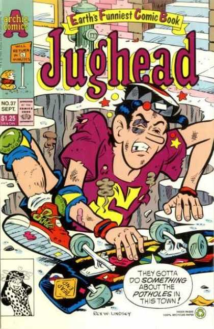 Jughead 2 37 - Archie Comics - No37 - Sept - Approved By The Comics Code Authority - Earths Funniest Comics Book