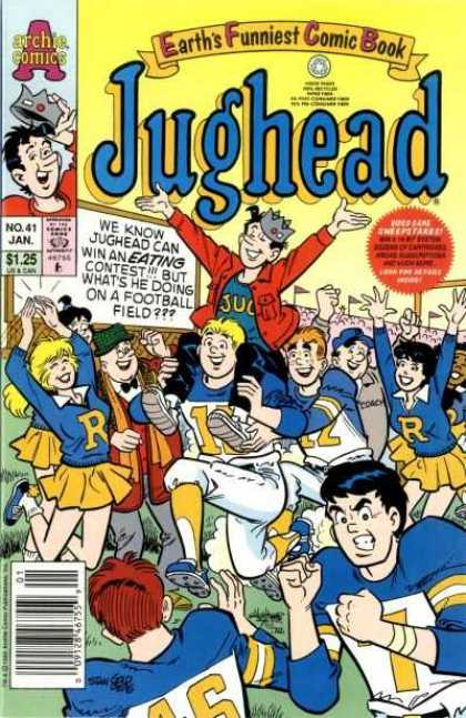 Jughead 2 41 - Archie Comics - Earths Funniest Comic Book - Crown - Blonde Hair - Football Field