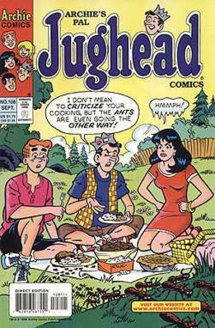 Jughead Comics 108 - Archie - Criticize - One Girl - Outdoor - Eatable Items