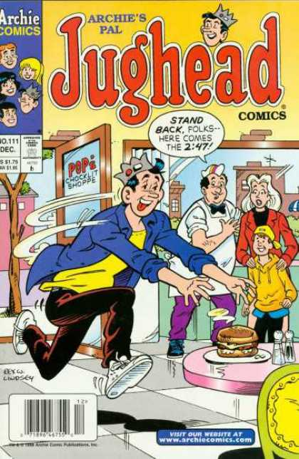 Jughead Comics 111 - Jughead - Burger - Rush - Archie Comics - Pops Chocklit Shoppe