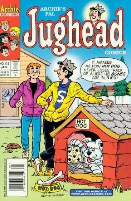 Jughead Comics 112 - Hot Dog - Doghouse - Yard - Computer - Bones Are Buried