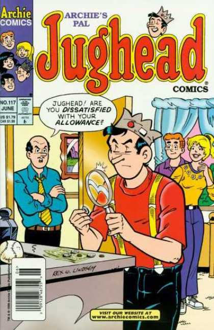 Jughead Comics 117 - Magnifying Glass - Money - Allowance - Dad - Archie U0026 Betty