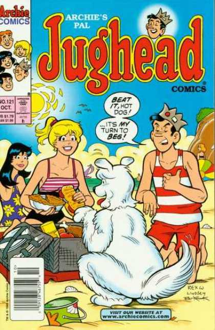 Jughead Comics 121 - Veronica - Betty - Beach - Dog - Picnic