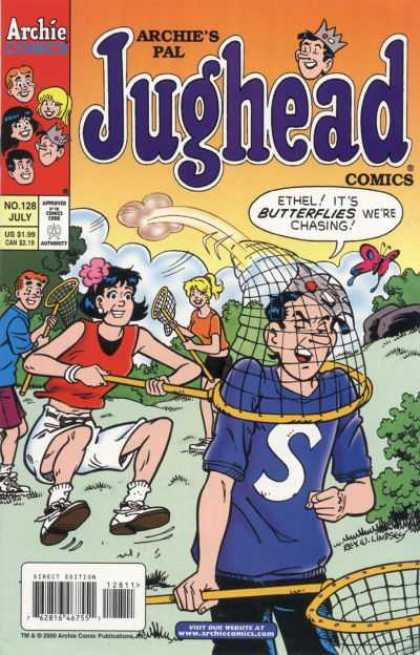 Jughead Comics 128 - Archie - Betty - Ethel - Butterfly Net - Butterfly