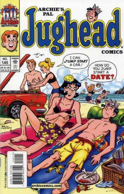 Jughead Comics 145 - Car - Archie - Beach - Food - Picnic