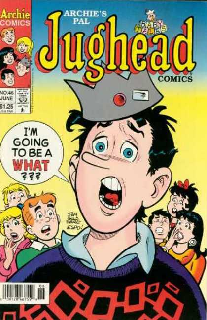 Jughead Comics 46 - Archies Pal - Crown - Archie Comics - No 46 June - Kid In Confusion