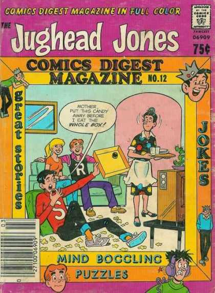 Jughead Jones Digest 12 - Candy - Jokes - Mind Boggling Puzzles - Archie - Betty