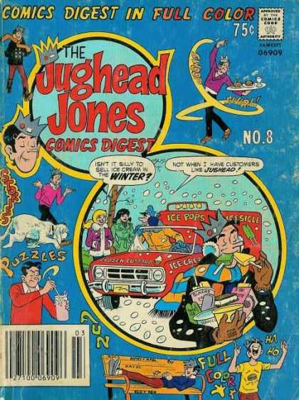 Jughead Jones Digest 8 - Comics Digest In Full Color - Man - Car - Ice Cream - Puzzles