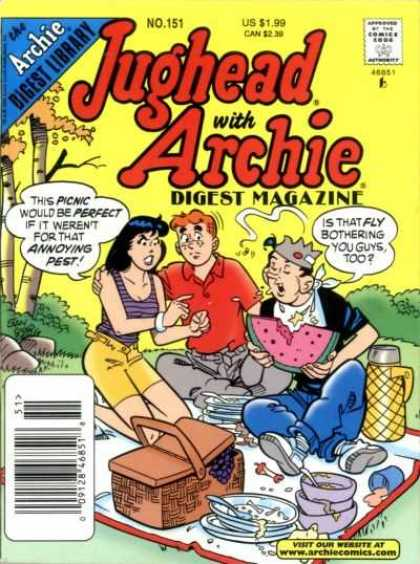 Jughead with Archie Digest 151 - Library - Veronica - Picnic - Basket - Watermelon