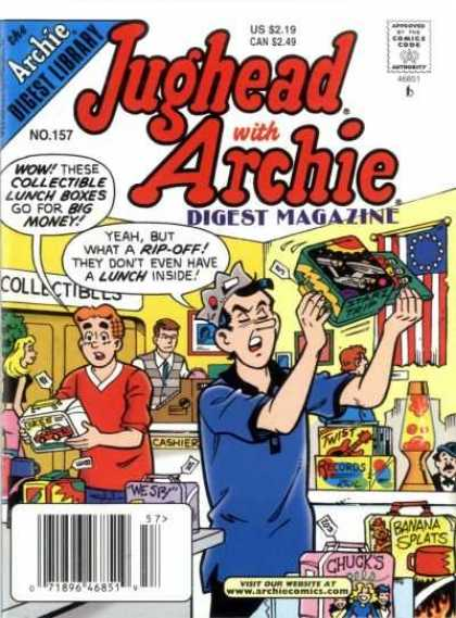 Jughead with Archie Digest 157 - American Flag - Collectibles - Cash Register - Toys - Lava Lamp